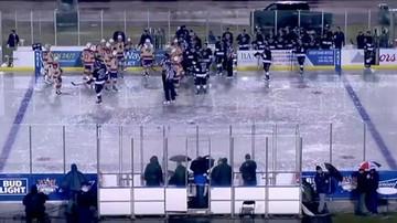 2017-01-08 Hokej pod chmurką, czyli ulewa w Kalifornii