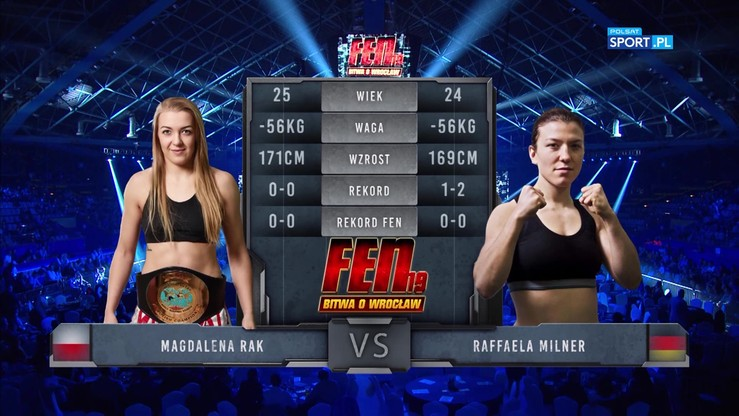 2017-10-14 Magdalena Rak - Rafaella Milner. Skrót walki