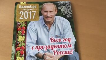 Putin przez cały rok. Oficjalny kalendarz z prezydentem Rosji trafił do sprzedaży
