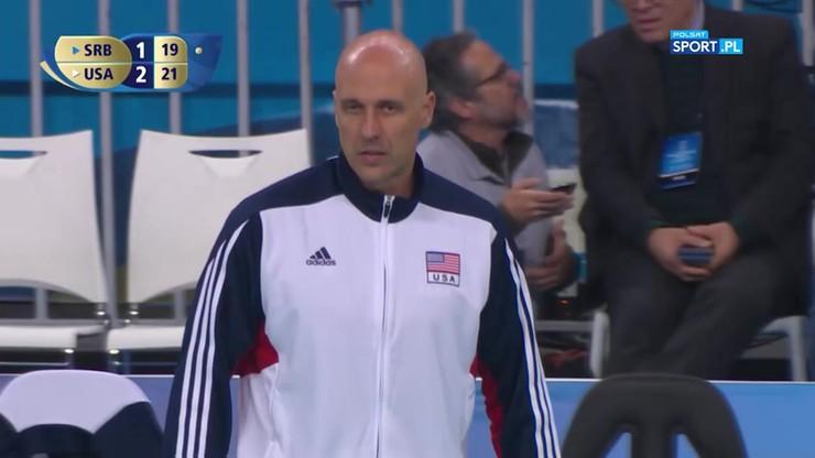 Serbia – USA 1:3. Końcówka meczu