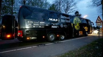 11-04-2017 21:23 Eksplozje w pobliżu autokaru Borussii Dortmund. Piłkarz ranny. Mecz przełożono