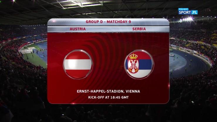 2017-10-07 El. MŚ 2018: Austria - Serbia 3:2. Skrót meczu