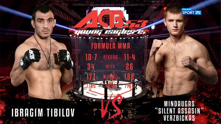 Mindaugas Verzbickas - Ibragim Tibilov. Skrót walki