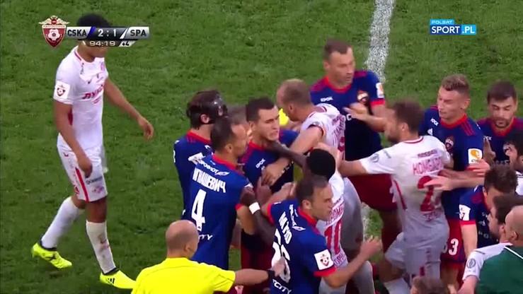 2017-08-12 Zadyma w ostatnich sekundach hitu CSKA - Spartak