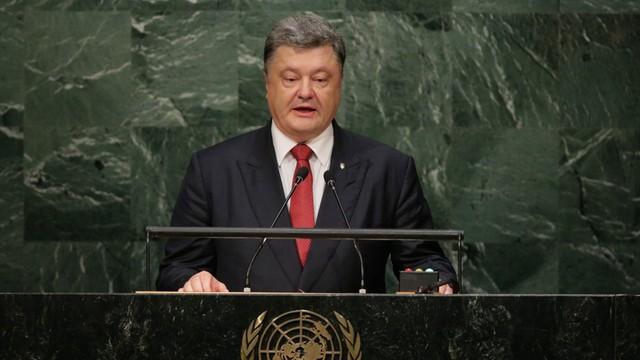 Poroszenko - Rosja wspiera terroryzm