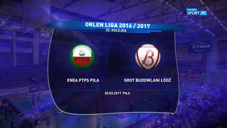 Enea PTPS Piła - Grot Budowlani Łódź 0:3. Skrót meczu