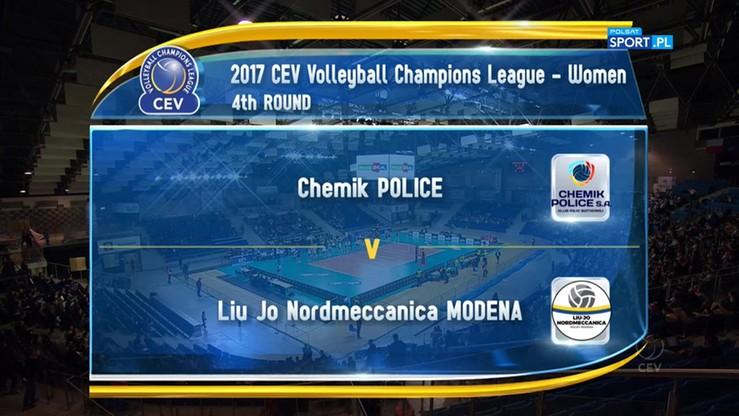 Chemik Police - Liu Jo Nordmeccanica Volley 1:3. Skrót meczu