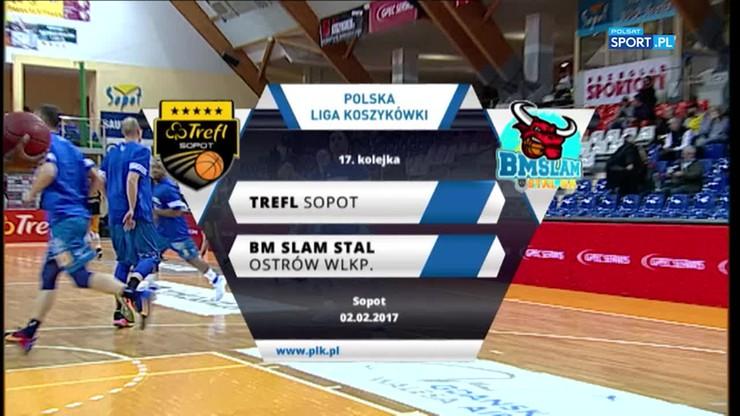Trefl Sopot - BM Slam Stal Ostrów Wlkp. 71:87. Skrót meczu