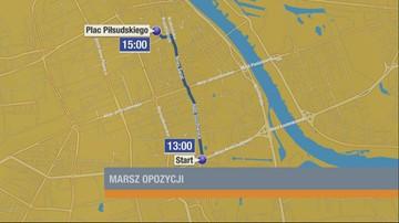 07-05-2016 10:00 W Warszawie trzy duże pochody - będą utrudnienia w ruchu