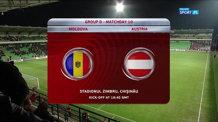 Mołdawia - Austria 0:1. Skrót meczu