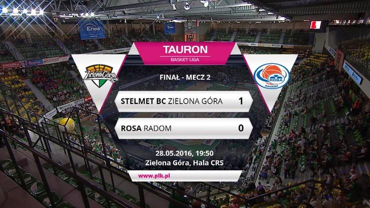 Finał TBL: Stelmet BC Zielona Góra - Rosa Radom 70:51. Skrót meczu