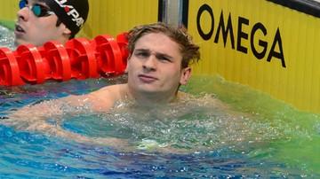 2015-12-04 Złoty medal Kawęckiego na 100 m stylem grzbietowym