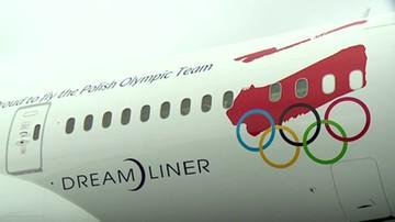 Specjalnie ozdobiony kadłub i napis. Polska reprezentacja olimpijska będzie latać Dreamlinerem