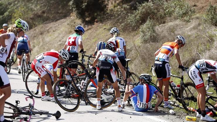 10 zawodniczek w szpitalu po wyścigu kolarskiej elity kobiet