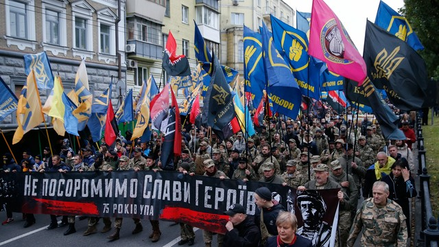 Ukraina: W Kijowie odbył się doroczny marsz UPA