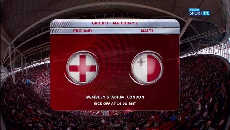 2016-10-08 Anglia - Malta 2:0. Skrót meczu