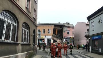 26-09-2017 14:57 Zawaliła się część kamienicy w Chrzanowie. Ewakuacja z pobliskich budynków