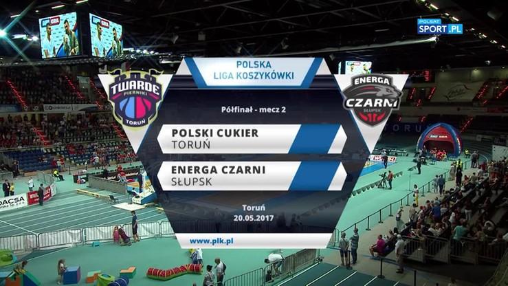 Polski Cukier Toruń - Energa Czarni Słupsk 83:76. Skrót meczu