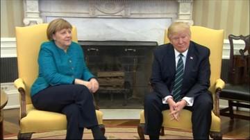 18-03-2017 13:51 Trump nie podał ręki Merkel. Niezręczna sytuacja podczas sesji fotograficznej