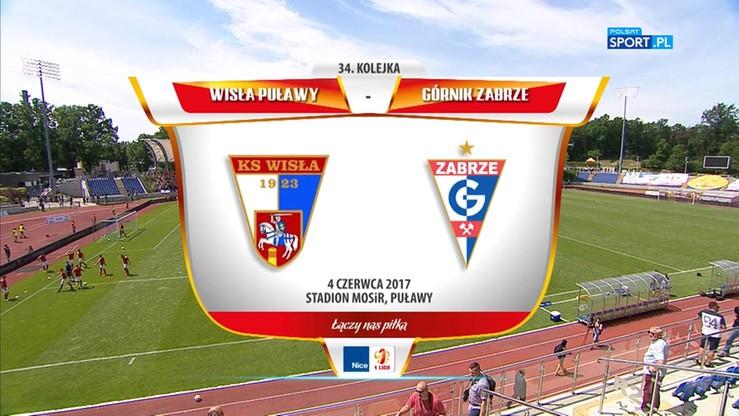 Wisła Puławy - Górnik Zabrze 0:1. Skrót meczu