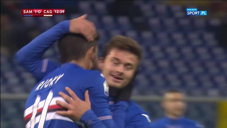 Sampdoria - Cagliari 3:0. Skrót meczu