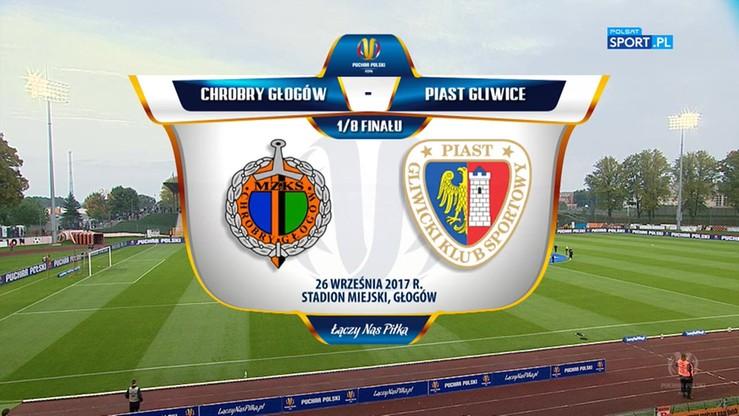 Chrobry Głogów - Piast Gliwice 2:1. Skrót meczu