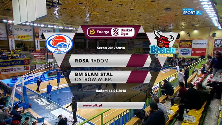 Rosa Radom - BM Slam Stal Ostrów Wlkp. 80:74. Skrót meczu