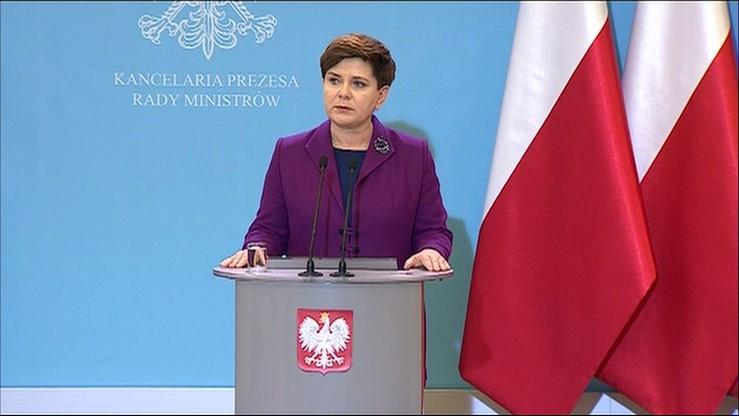 Premier Szydło: Polacy są bezpieczni. Służby w pogotowiu