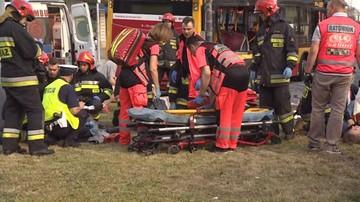 14-06-2017 20:35 Zderzenie autobusu z tramwajem w Warszawie. Są poszkodowani, w tym dzieci