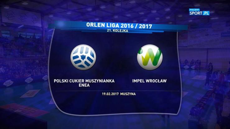 Polski Cukier Muszynianka Muszyna – Impel Wrocław 0:3. Skrót meczu