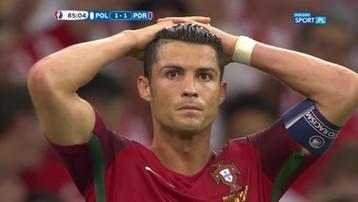 2016-06-30 Polska – Portugalia: Zadrżała noga Ronaldo. CR7 nie trafił w piłkę (WIDEO)