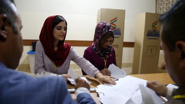 Koniec referendum w Kurdystanie. Wysoka frekwencja, wyniki w ciągu doby