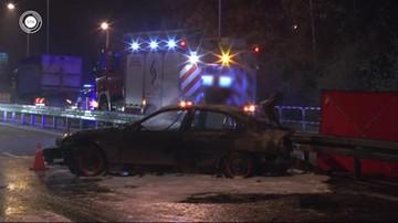 18-latek spłonął w bagażniku auta. Kierujący był pod wpływem alkoholu