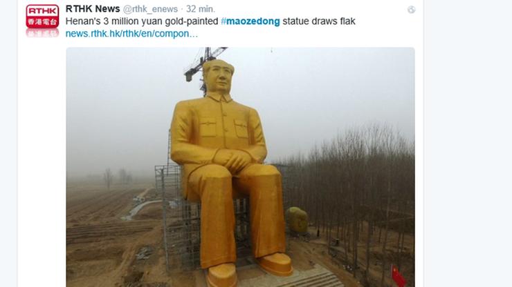 Chińczycy zbudowali gigantyczną statuę Mao Zedonga