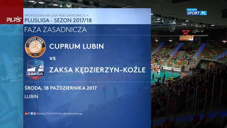 Cuprum Lubin - ZAKSA Kędzierzyn-Koźle 1:3. Skrót meczu