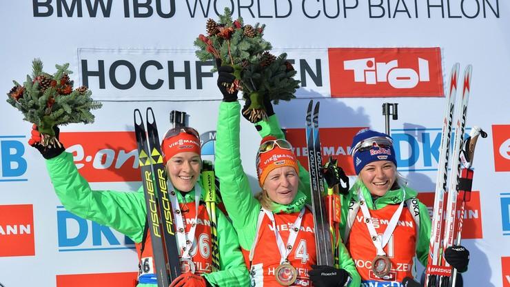 PŚ w biathlonie: Guzik 19. w sprincie. Podium dla Niemek