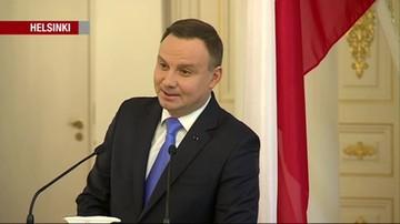 Prezydent Duda z wizytą w Finlandii