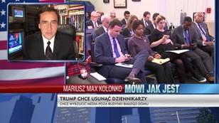 Trump nie chce dziennikarzy w budynkach Białego Domu