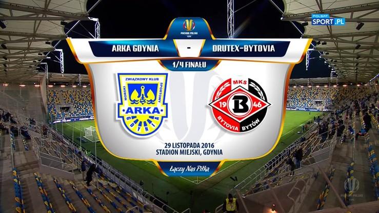 Arka Gdynia - Drutex-Bytovia 1:0. Skrót meczu