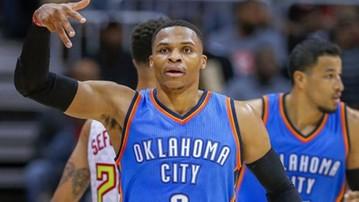 2017-01-06 NBA: Thunder przegrali z Rockets mimo 49 punktów Westbrooka