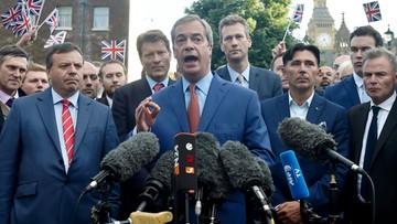 """25-06-2016 23:30 Lider brexitowców przyznał: sztandarowa obietnica """"była pomyłką"""""""