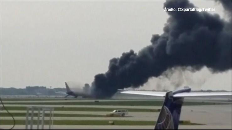 Chicago: samolot zapalił się na płycie lotniska. Są ranni