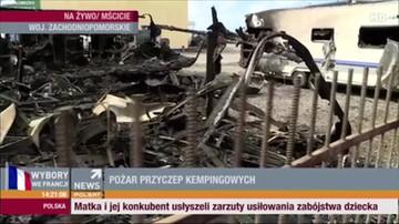 2017-04-23 Gigantyczny pożar w Zachodniopomorskiem. Spłonęło 11 przyczep kempingowych
