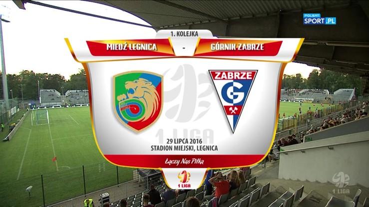 2016-07-29 Miedź Legnica - Górnik Zabrze 1:0. Skrót meczu