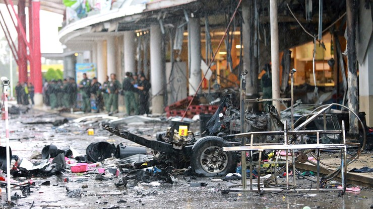 Zamach na centrum handlowe w Tajlandii. Co najmniej 56 rannych