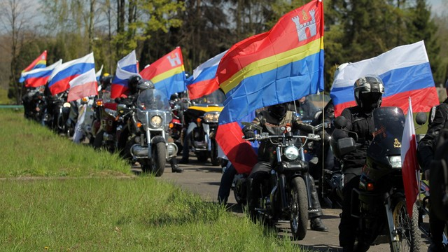 Braniewo: Rosyjscy motocykliści oddali hołd czerwonoarmistom