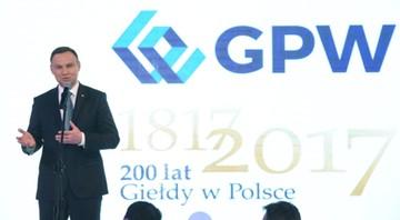 24-05-2017 20:54 200-lecie giełdy w Polsce. Prezydent życzy następnych 200 lat