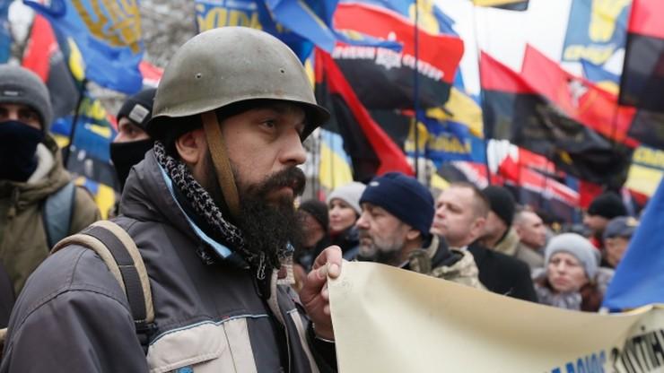 Ulicami Kijowa przeszedł marsz nacjonalistów