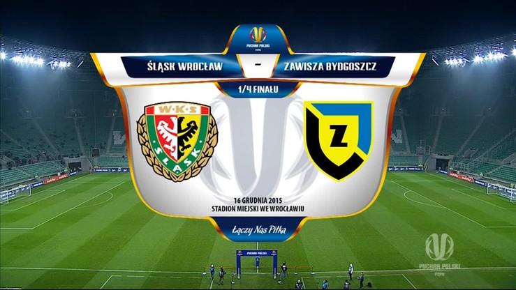 Śląsk Wrocław - Zawisza Bydgoszcz 1:2. Skrót meczu