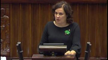 Chciała, aby Szyszko wyjaśnił pobicie aktywisty przez strażników leśnych. Marszałek odebrał jej głos